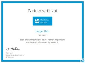 2018 HP Business Partner und die HP Partnerschaft besteht weiter. cenks Holger Balz