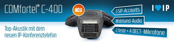 Auerswald Konferenztelefon COMfortel C-400 vom Auerswald Partner cenks Holger balz Stuttgart